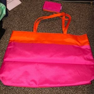 Pink and Orange fashionable tote